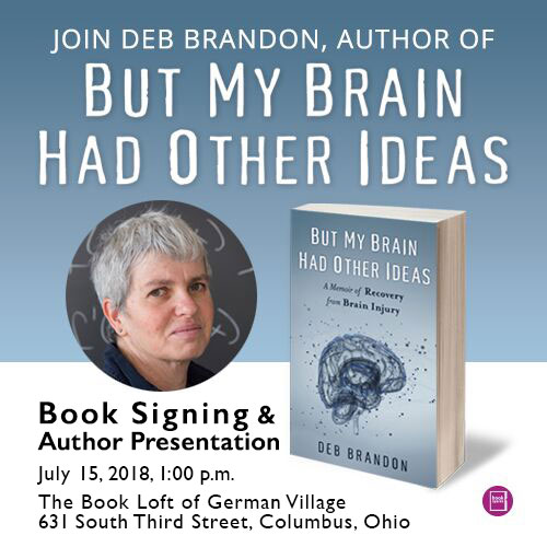 Sunday July 15, 2018, 1 PM The Book Loft of German Village , Columbus, Ohio.