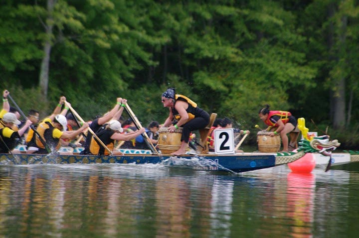 Princeton dragon boat race, closeup of boat 2