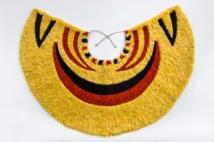 Plolynesian featherwork cloak